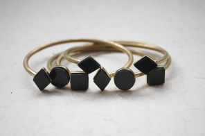 bracelets black and GOLD