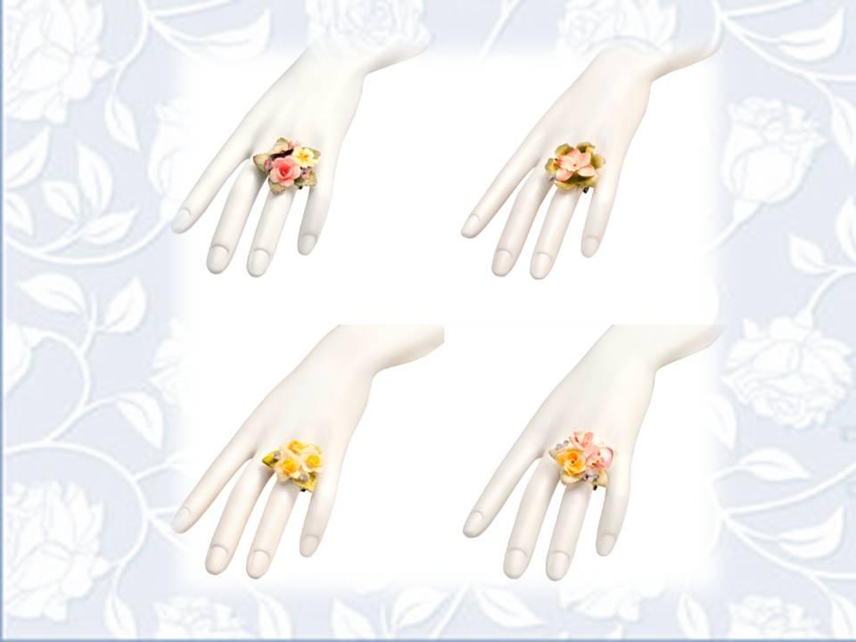 floral rings